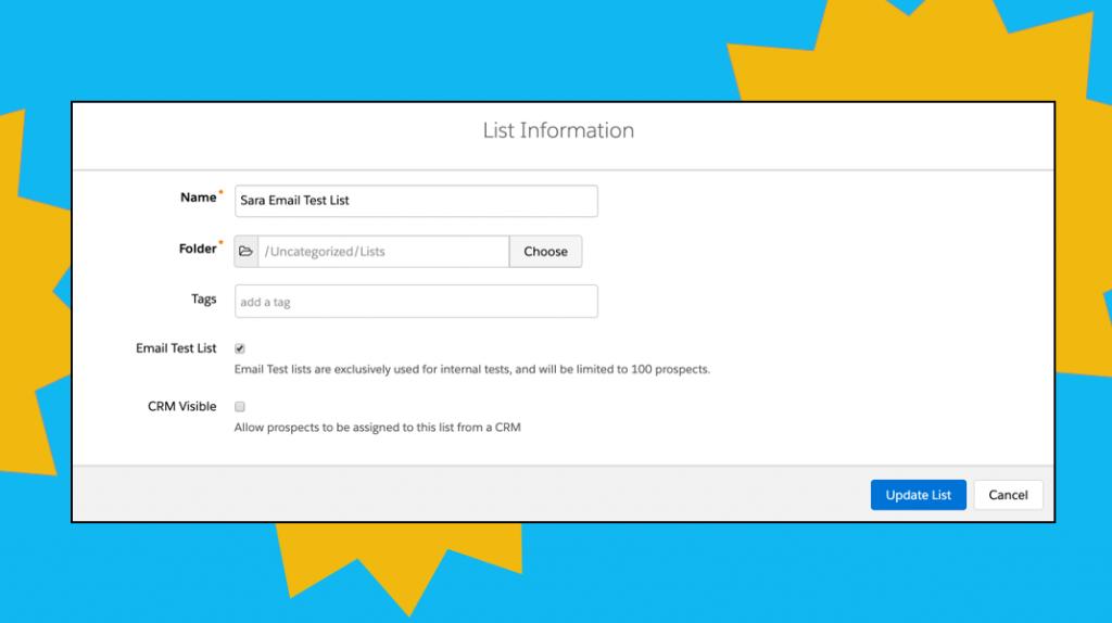 sending test emails in pardot
